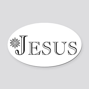 Jesus Oval Car Magnet